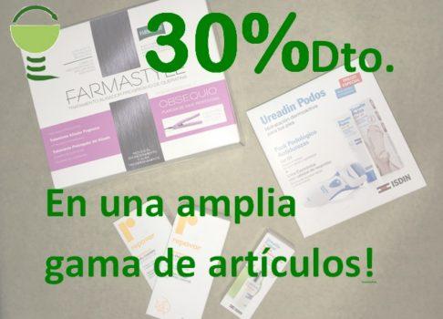 30% de descuento en Farmacia Santa Aurelia