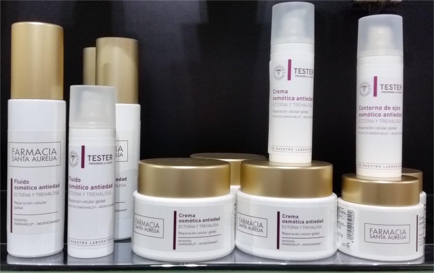Productos alta gama marca Farmacia Santa Aurelia