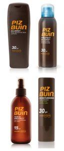 Productos Piz Buin para el concurso