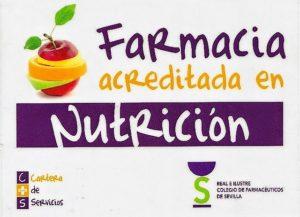 Farmacia acreditada en Nutrición