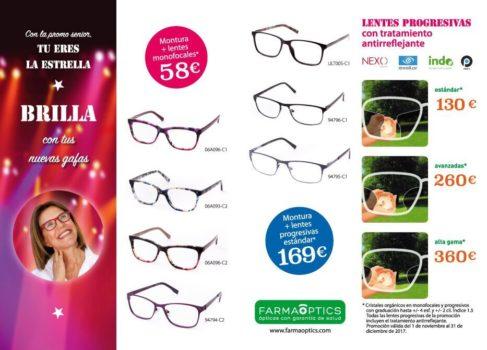 Gafas para seniors promoción Tú eres la estrella