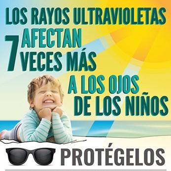 Rayos ultravioletas en los niños