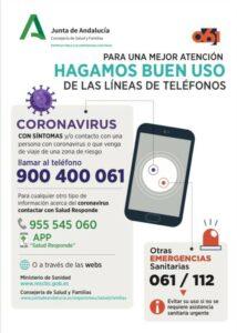 Teléfonos de contacto ante el coronavirus