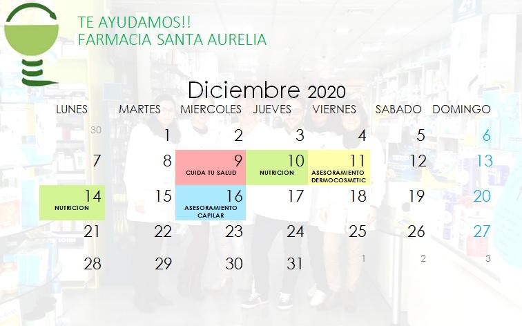 AGENDA DICIEMBRE 2020